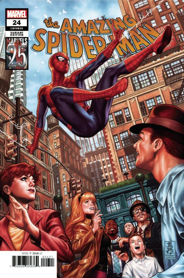 AMAZING SPIDER-MAN #24 BROOKS MARVELS 25TH TRIBUTE VAR