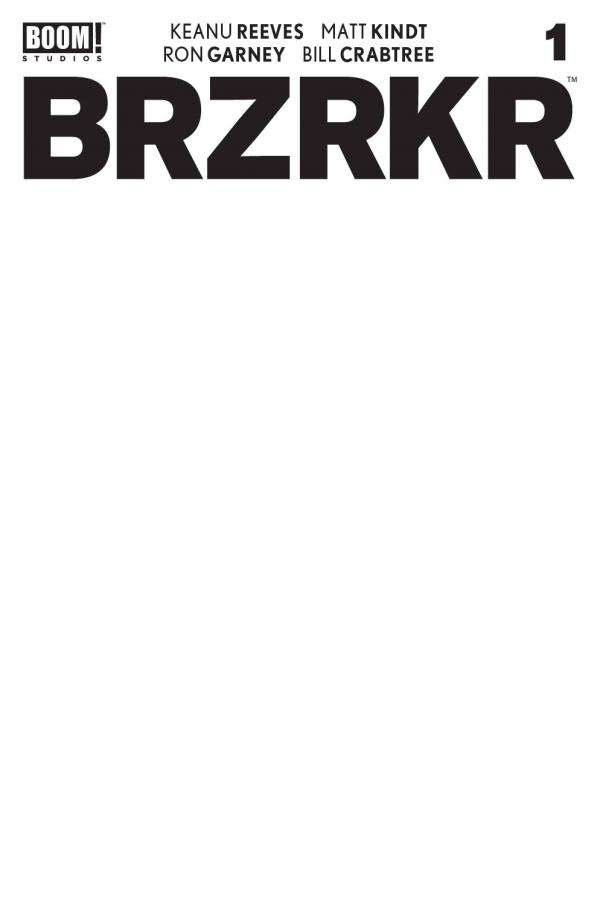 BRZRKR (BERZERKER) #1 CVR E BLANK SKETCH VAR