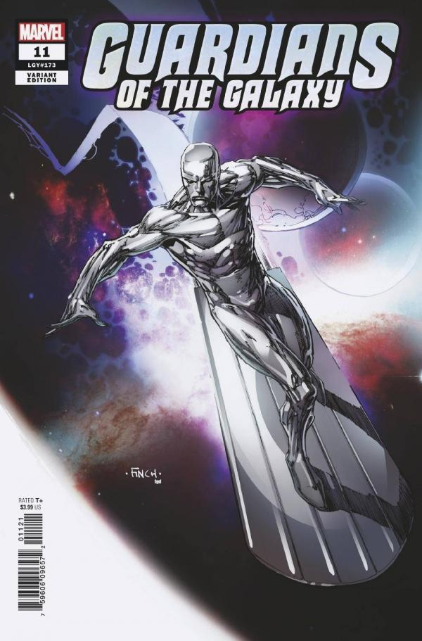 GUARDIANS OF THE GALAXY #11 (2020) FINCH SILVER SURFER VAR 1:50