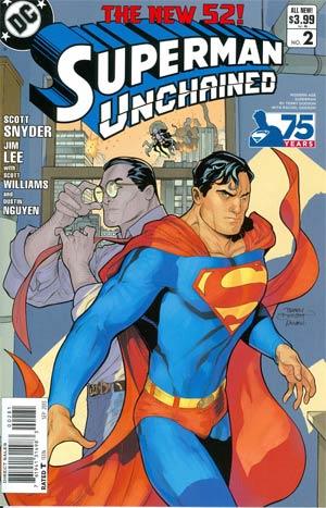 SUPERMAN UNCHAINED #2 75TH ANNIV VAR ED MODERN AGE 1:25