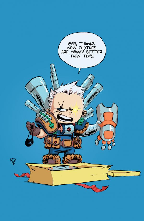 CABLE AND X-FORCE #1 YOUNG BABY VAR NOW