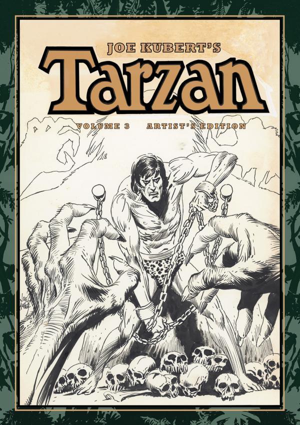 JOE KUBERT TARZAN AND THE LION MAN ARTIST ED HC