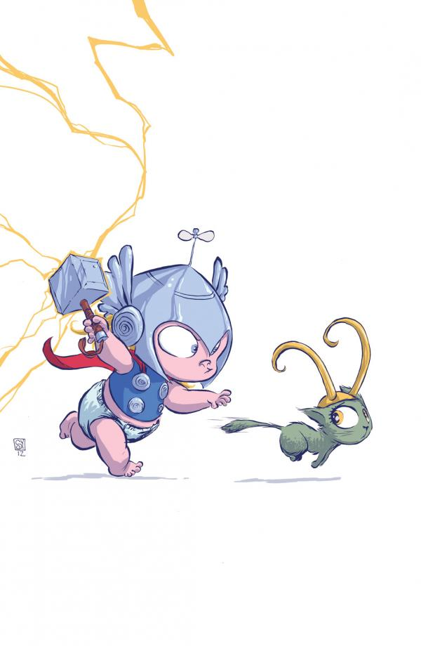 THOR GOD OF THUNDER #1 YOUNG BABY VAR NOW