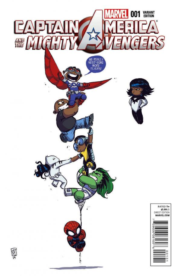 CAPTAIN AMERICA AND MIGHTY AVENGERS #1 YOUNG VAR
