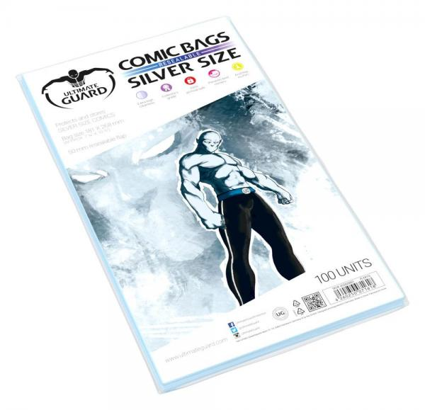 COMIC BAGS SILVER SIZE RESEALABLE (100)