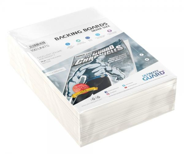 BACKING BOARDS SILVER SIZE (100)