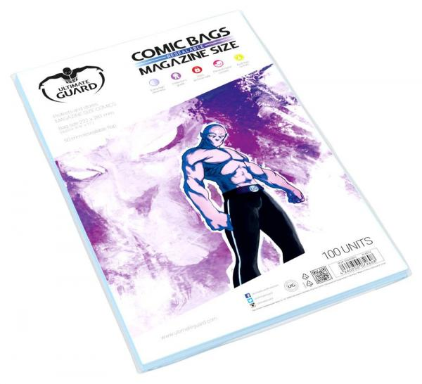 COMIC BAGS MAGAZINE SIZE RESEALABLE (100)