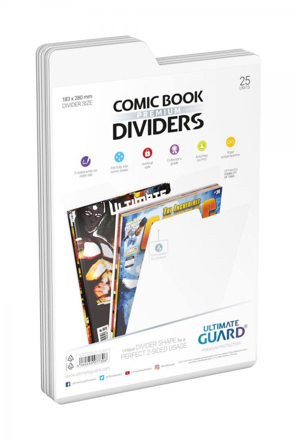 COMIC BOOK DIVIDERS BLANCS (25)