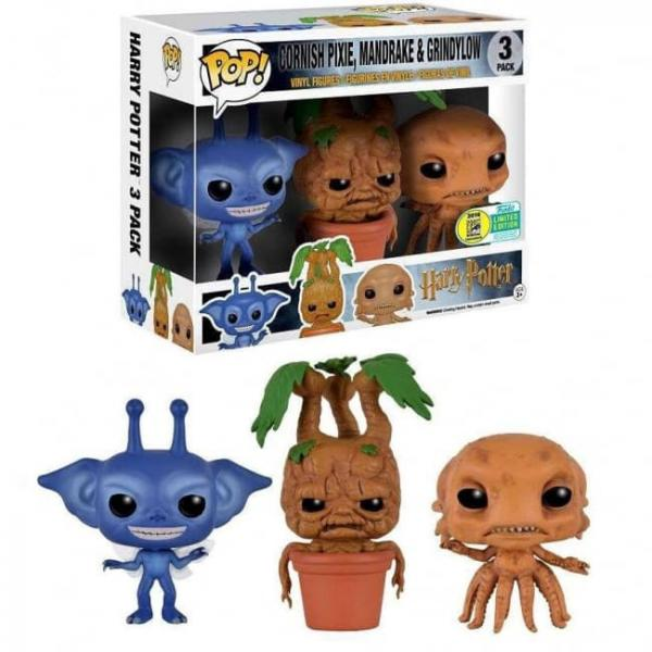 Cornish Pixie, Mandrake & Grindylow 3-Pack