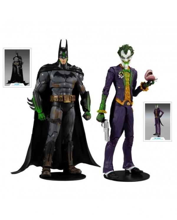 DC Multiverse Figurines Batman & The Joker Arkham Asylum