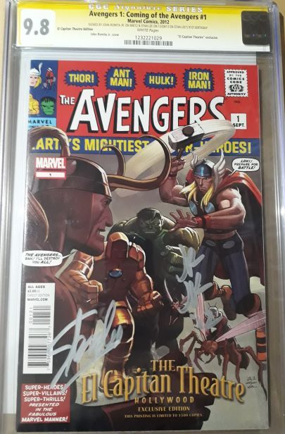 CGC AVENGERS 1 SIGNED BY STAN LEE AND JOHN ROMITA JR 9.8