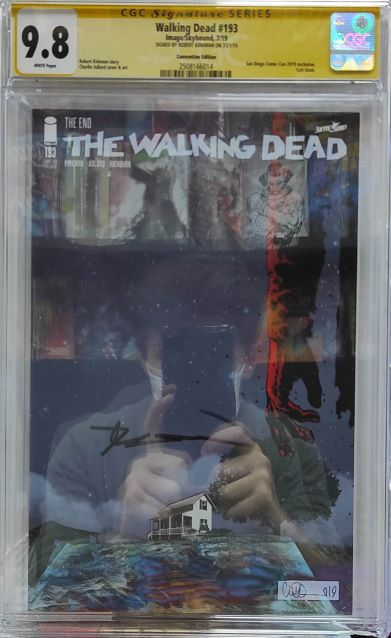CGC WALKING DEAD #193 SDCC 2019 VARIANT SIGNED KIRKMAN 9.8