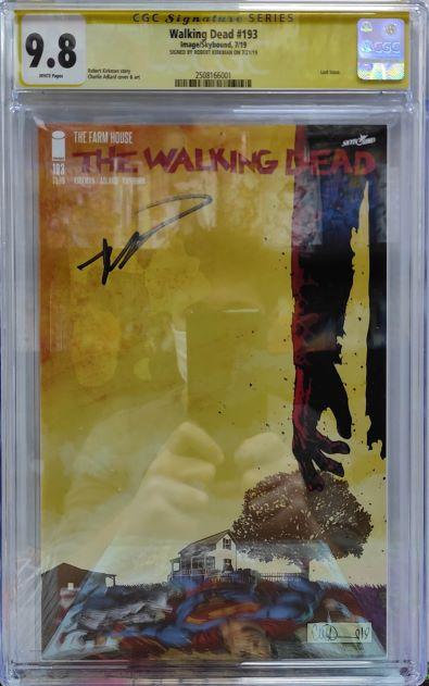 CGC WALKING DEAD #193 SIGNED KIRKMAN 9.8