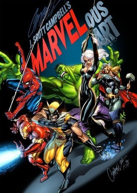 J. SCOTT CAMPBELL MARVELOUS ART #1