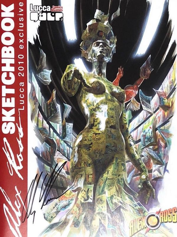 ALEX ROSS SKETCHBOOK 2010 LUCCA EXCLUSIVE SIGNED