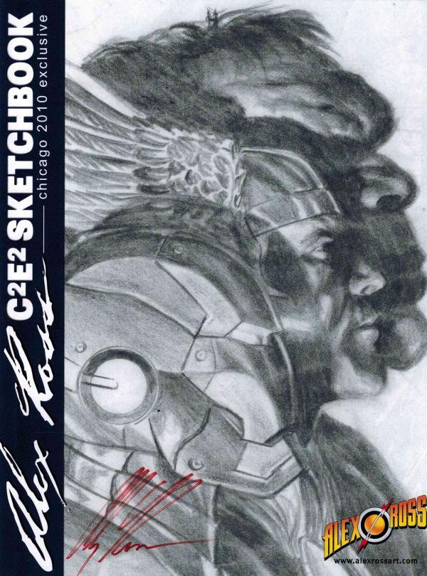 ALEX ROSS SKETCHBOOK C2E2 EXCLUSIVE SIGNED