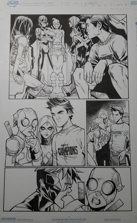 CHAMPIONS 5, PAGE 9 BY HUMBERTO RAMOS AND VICTOR OLAZABA