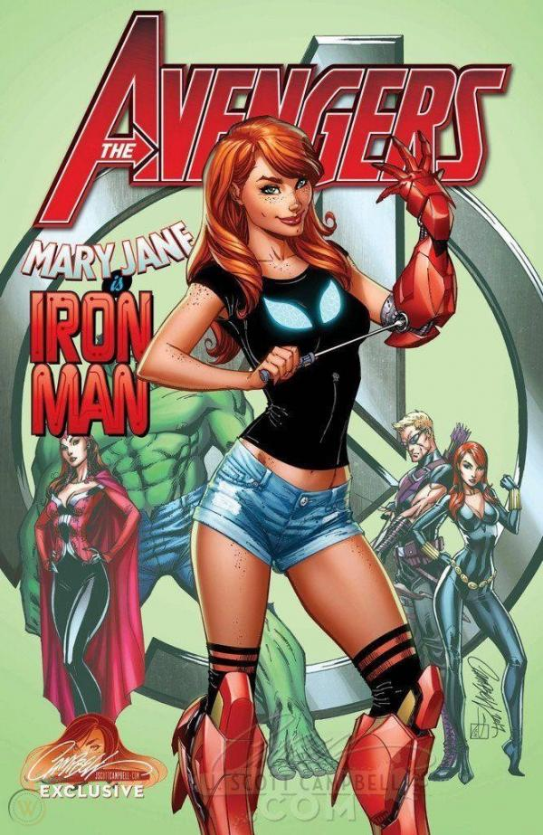 AVENGERS #8 CAMPBELL EXCLUSIVE C