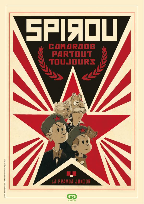 SPIROU CHEZ LES SOVIETS + EX LIBRIS PULP'S OFFERT