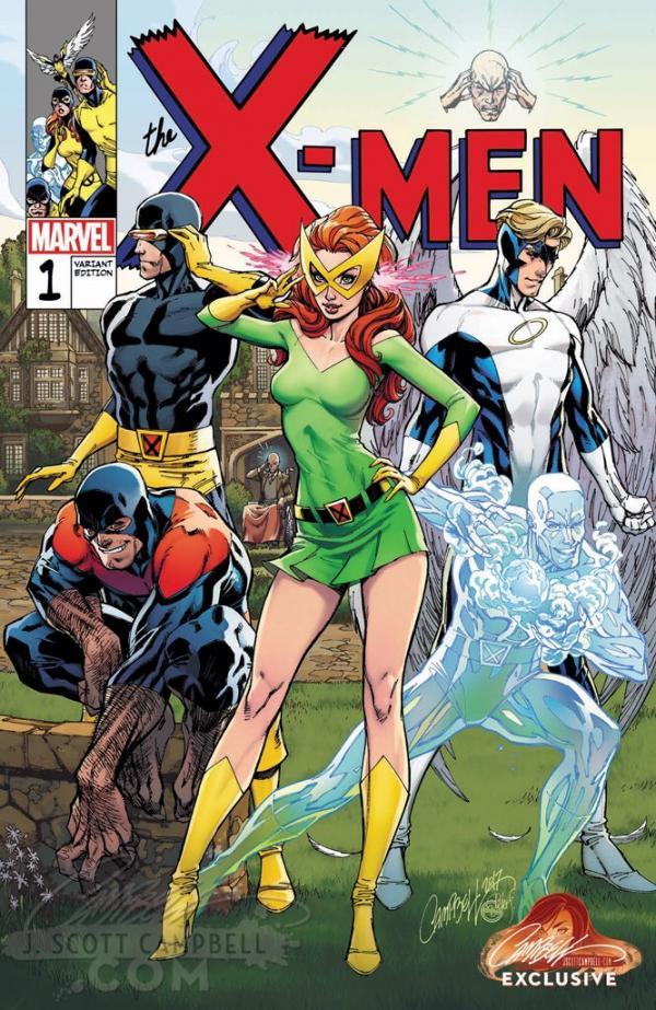 X-MEN BLUE #1 CAMPBELL EXCLUSIVE B