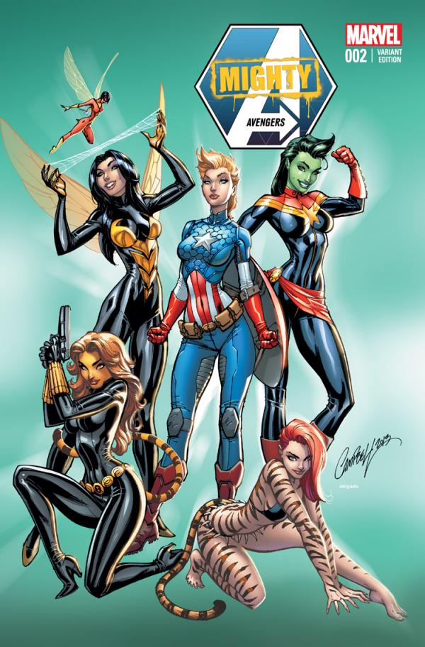 MIGHTY AVENGERS #2 NYCC 2013 EXCLUSIVE J. SCOTT CAMPBELL VAR