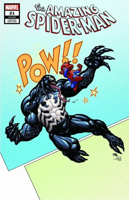 AMAZING SPIDER-MAN #21 LCCAF FRANK CHO VAR SIGNED