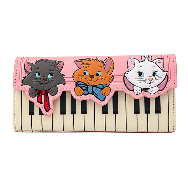 Portefeuille Aristochats Piano Kitties