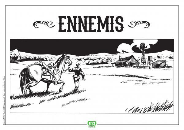 ENNEMIS - T01 - ENNEMIS - VOL. 01/2 - NOIR + EX LIBRIS PULP'S OFFERT
