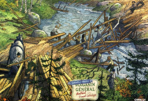 MAGASIN GENERAL - COFFRET CANAL BD VIDE AVEC VIGNETTES