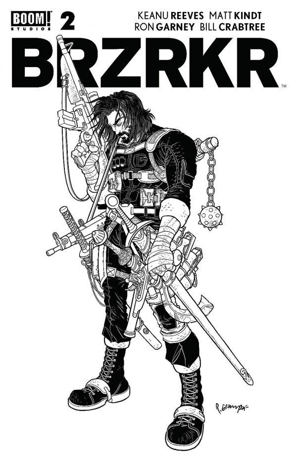 BRZRKR (BERZERKER) #2 SECRET VAR BLACK & WHITE