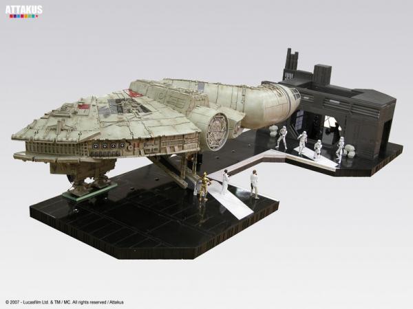 Death Star diorama Faucon Millenium & Duel corridor final
