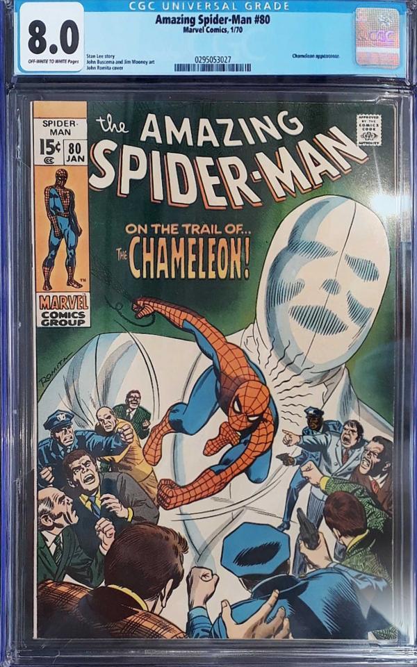 AMAZING SPIDER-MAN #80 8.0