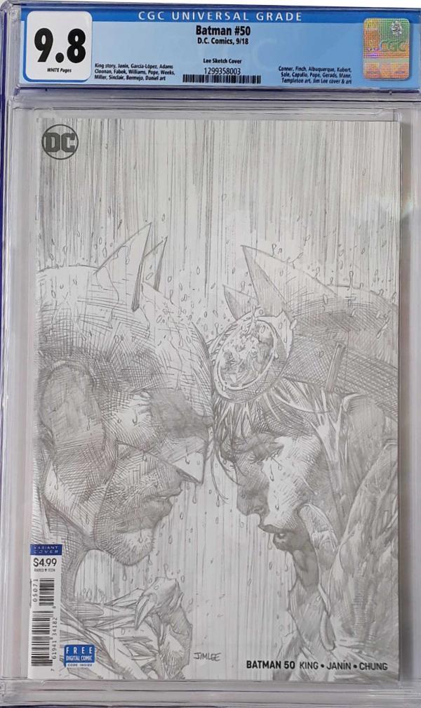 BATMAN #50 SKETCH VAR 9.8