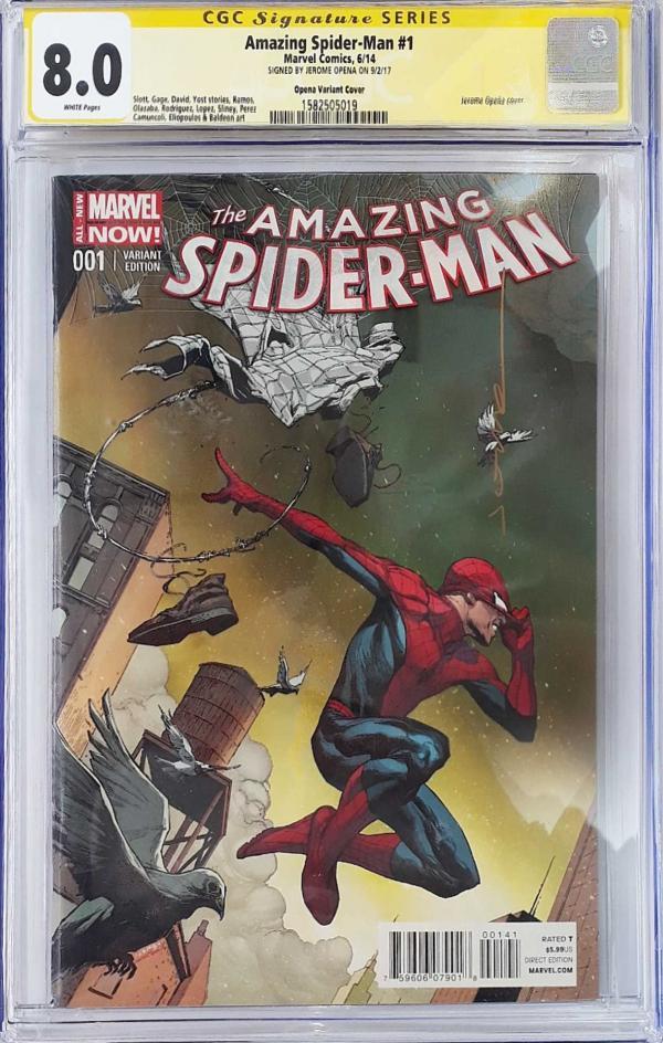 AMAZING SPIDER-MAN #1 OPENA VAR SIGNED 8.0