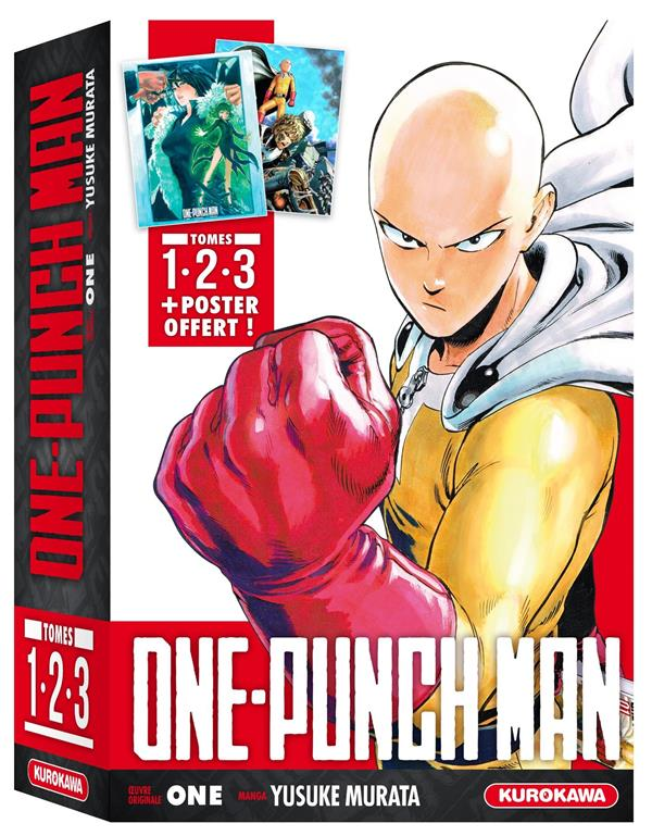 COFFRET ONE-PUNCH MAN - TOMES 1 A 3 + POSTER