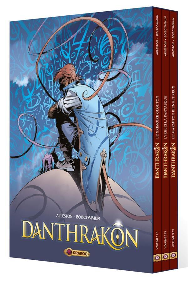 DANTHRAKON - COFFRET 01 A 03 - DANTHRAKON - COFFRET HISTOIRE COMPLETE + EX LIBRIS PULP'S OFFERT